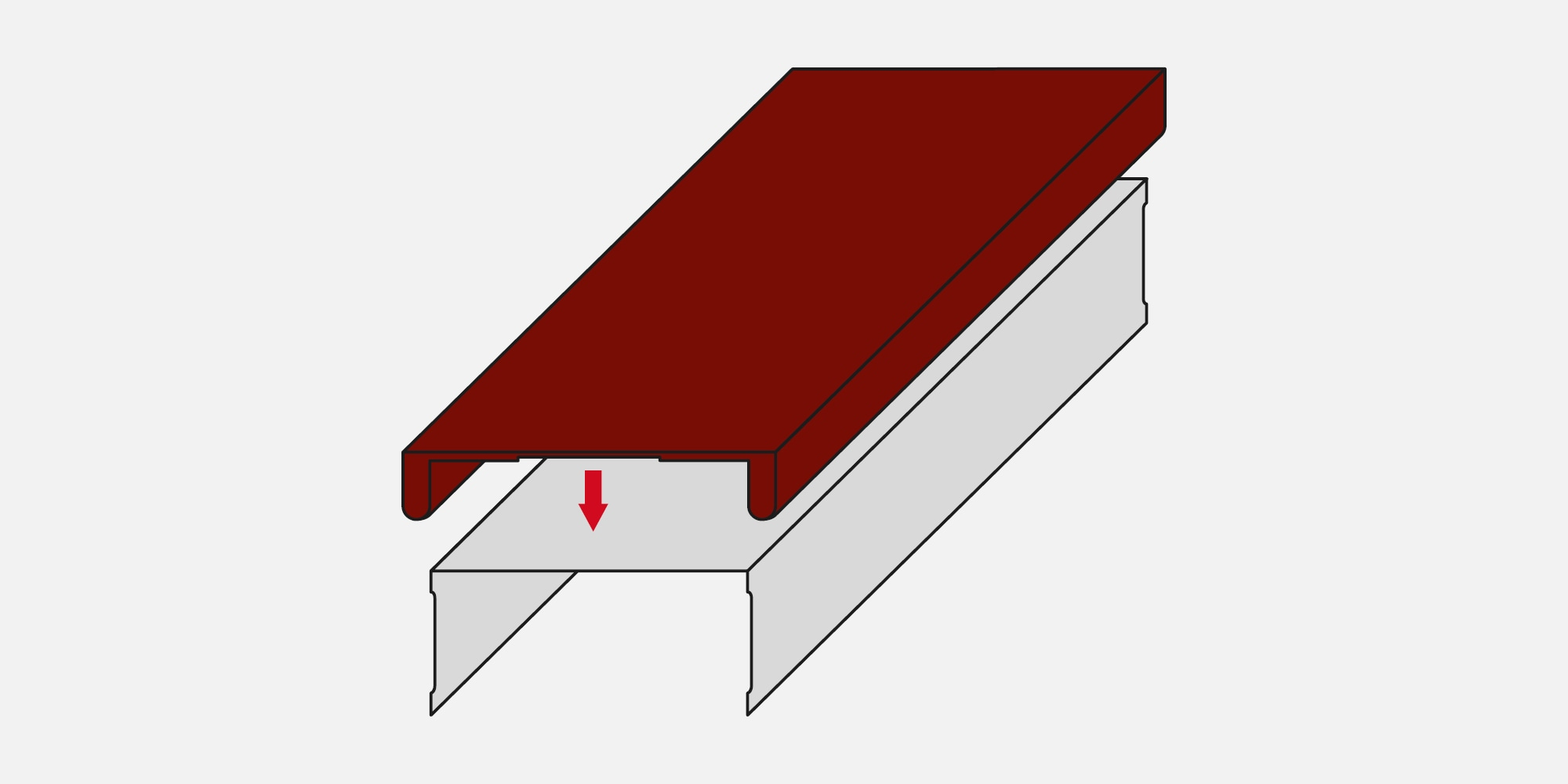 CFS-TTS Firestop top track seal for drywall applications