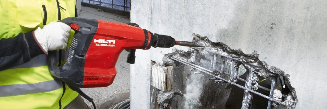 Hilti active vibration reduction system in breakers