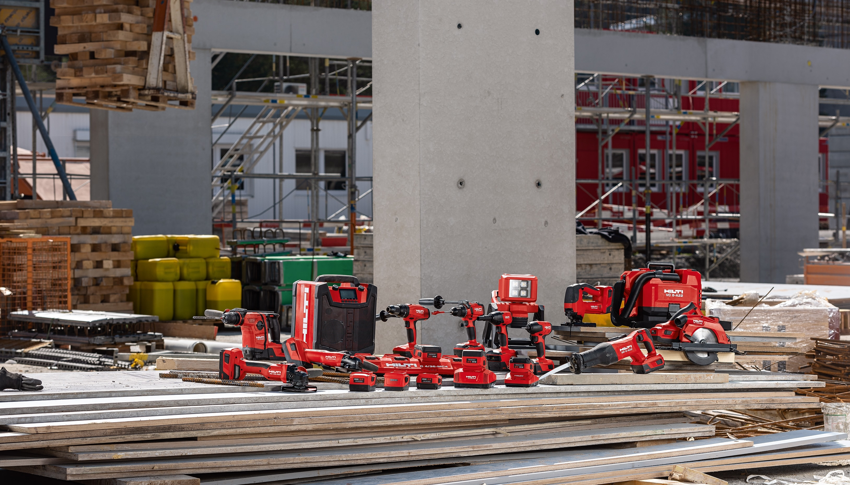 Hilti introduces the new range of B22 batteries