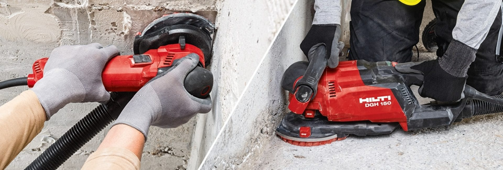 Hilti DG 130 diamond grinder for wall grinding