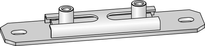 MSG-UK Premium galvanised cross slide connector for light-duty heating and refrigeration applications