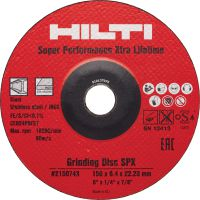 Ceramic SPX grinding disc Ultimate abrasive grinding disc offering extra-high removal rate and extra-long lifetime