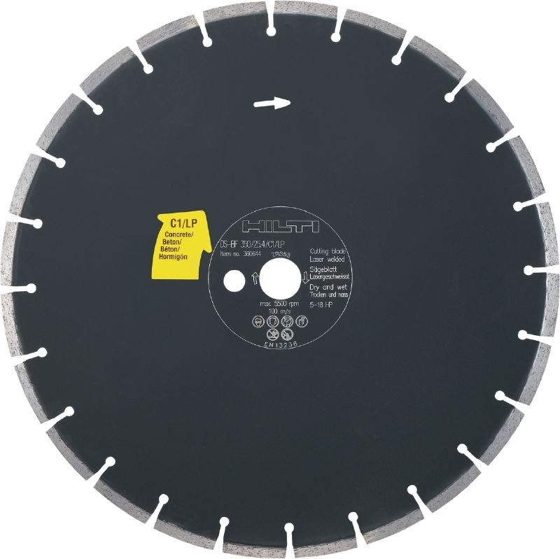 C1/LP Floor Saw Blade (Concrete) Premium floor saw blade (5-18 HP) for floor sawing machines – designed for cutting concrete