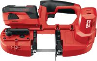 SB 4-A22 Cordless band saw with 22V battery and LED light, for cutting thicknesses up to 63.5 mm (2 1/2)