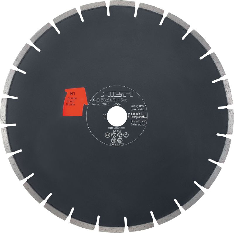 Silent bench saw blade N1 Premium silent diamond blade for bench saws, for cutting clinker and granite – noise reduction of up to 60%