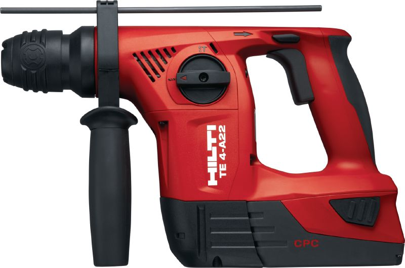 TE 4-A22 Cordless rotary hammer Compact D-grip 22V cordless rotary hammer with superior handling in serial applications
