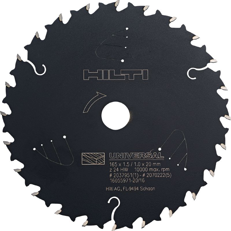 CPC - universal wood cutting Ultimate circular saw blade for universal wood cutting, offering more run time for cordless saws