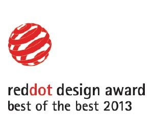 "Dette produkt er tildelt Red Dot designprisen ""Best of the Best""."
