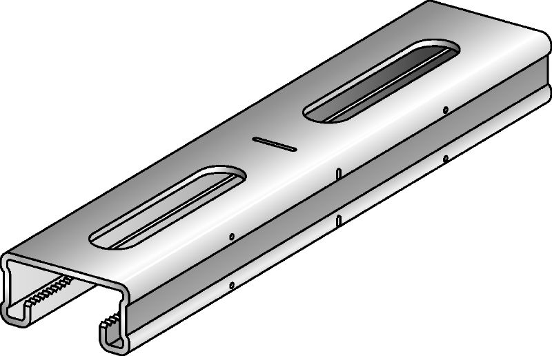 MQ-21-F Hot-dip galvanised (HDG) 21 mm high MQ strut channel for light-duty applications