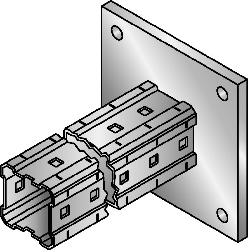 MIC-C90-DH Hot-dip galvanised (HDG) bracket for heavy-duty connections to concrete
