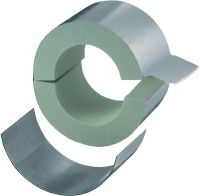 MI-CF LS Standard galvanized pipe clamp with load sharing for refrigeration applications with 40 mm insulation
