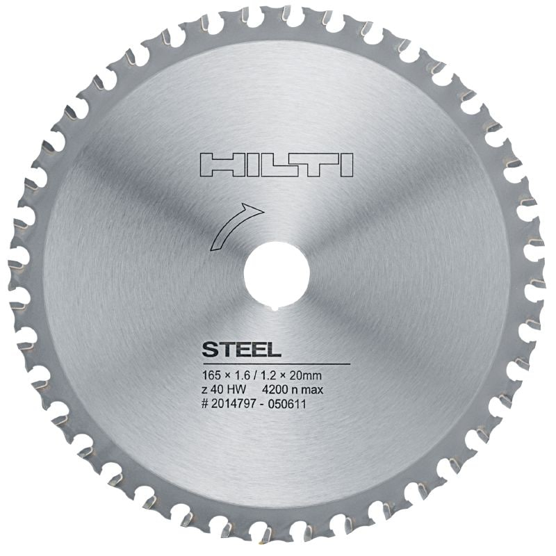 Steel circular saw blade Premium circular saw blade for straight, fast, cold cutting in metal