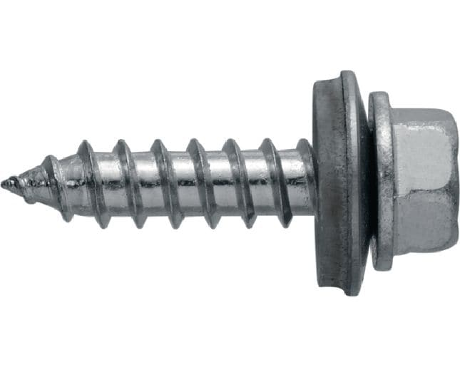 S-MP 53 Z Self-tapping screw (zinc-plated carbon steel) with 16 mm washer for fastening on timber framing or thin steel/aluminium