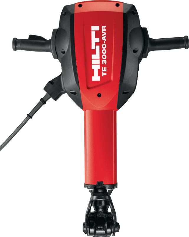 TE 3000-AVR universal cord Exceptionally powerful concrete demolition hammer for heavy-duty floor demolition