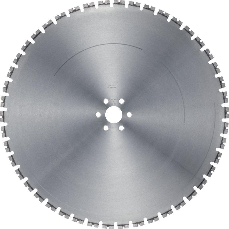 MCS Silent Equidist-60H Ultimate wall saw blade (15 kW) for high speed, a longer lifetime and noise reduction (60H arbor)
