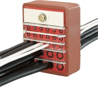 Firestop cable transit systems