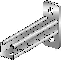 MQK-41-R Stainless steel bracket with a 41 mm high, single MQ strut channel for high corrosion protection