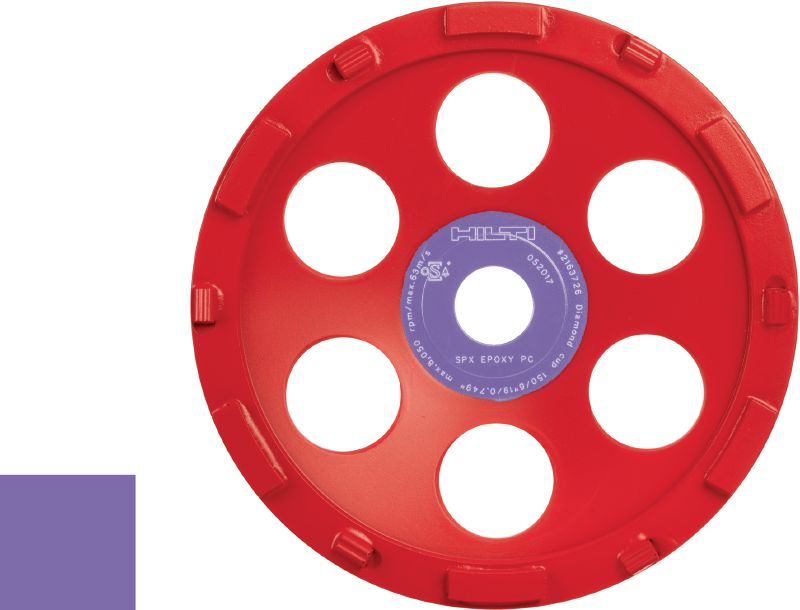SPX epoxy Ultimate diamond cup wheel for the DG 150 diamond grinder – for removing thick coatings such as epoxy
