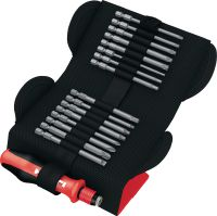 S-BS with grip Hand screwdriver in pouch with exchangeable bits for manual fastening of screws
