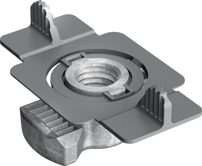MQM-F Hot-dip galvanised (HDG) wing nut for connecting modular support system components