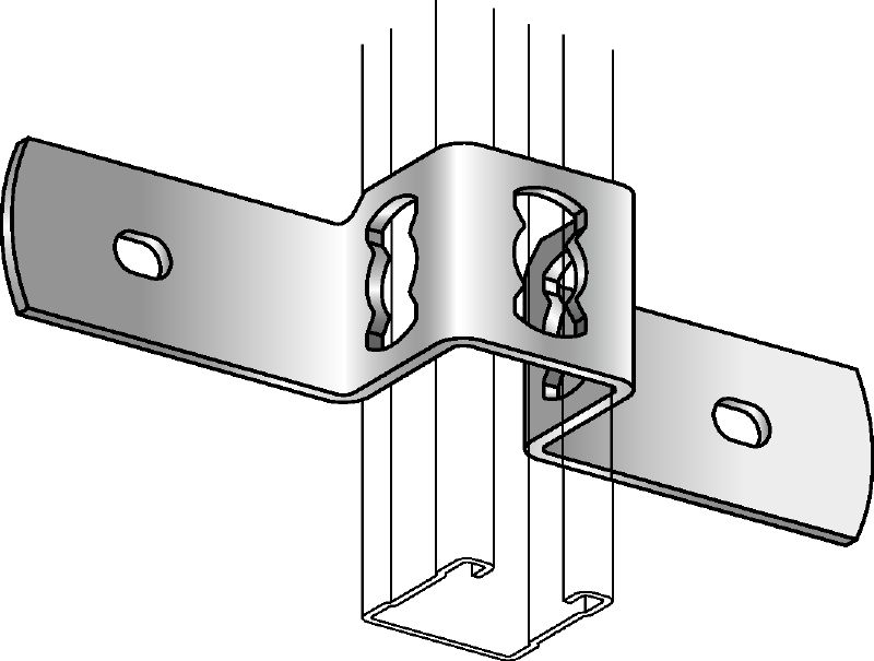 MQB-F Hot-dip galvanised (HDG) clamp for fastening MQ strut channels to concrete