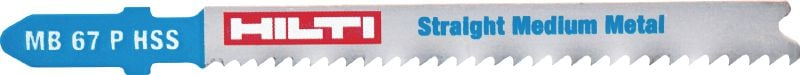 Metal plate jig saw blade Basic jig saw blade for economical and smooth cutting of medium metal plates up to 6 mm thick