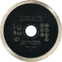 SP-T Tile Premium diamond blade for optimal cutting performance in tile, stone and ceramic materials