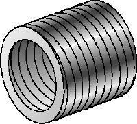 SR-RM Galvanised reduction sleeves used to reduce the diameter of threaded rods