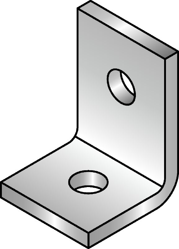 MQW-L Standard galvanised 90-degree angle for connecting multiple MQ strut channels