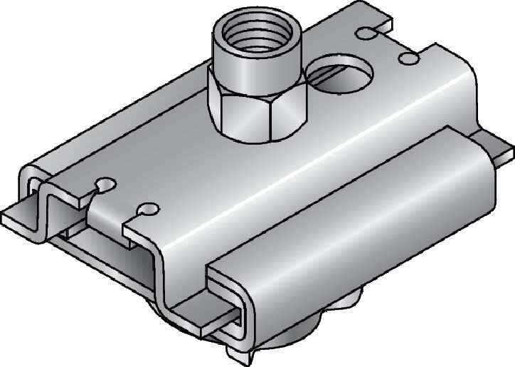 MSG-MQ 0.6 Premium galvanised slide connector for light-duty heating and refrigeration applications