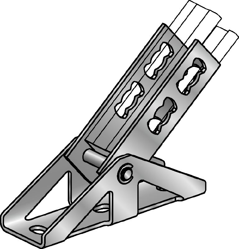 MQP Galvanised pivoting element for fastening channels to most common base materials